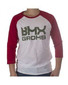BMX GROMS Tee - 3/4 Sleeve - Army Green Logo